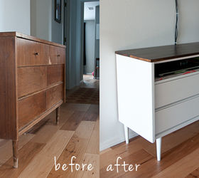 Revamping A Mid Century Modern Chest Of Drawers Into A Media Center, Home  Decor,