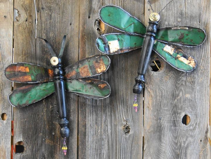 Dragonflies Made From Re Purposed Materials Home Decor Outdoor Living Repurposing Upcycling