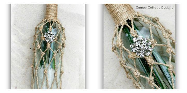 home decor wine bottle rope beachy ballard designs knockoff, crafts, repurposing upcycling
