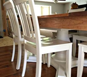 woodworking farmhouse table rev& diy painted furniture woodworking projects & Wood Farmhouse Table Revamp | Hometalk