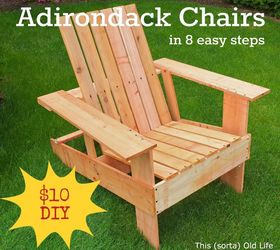 Nice Easy Economical Diy Adirondack Chairs 10 8 Steps 2 Hours, Outdoor Furniture,  Outdoor Living