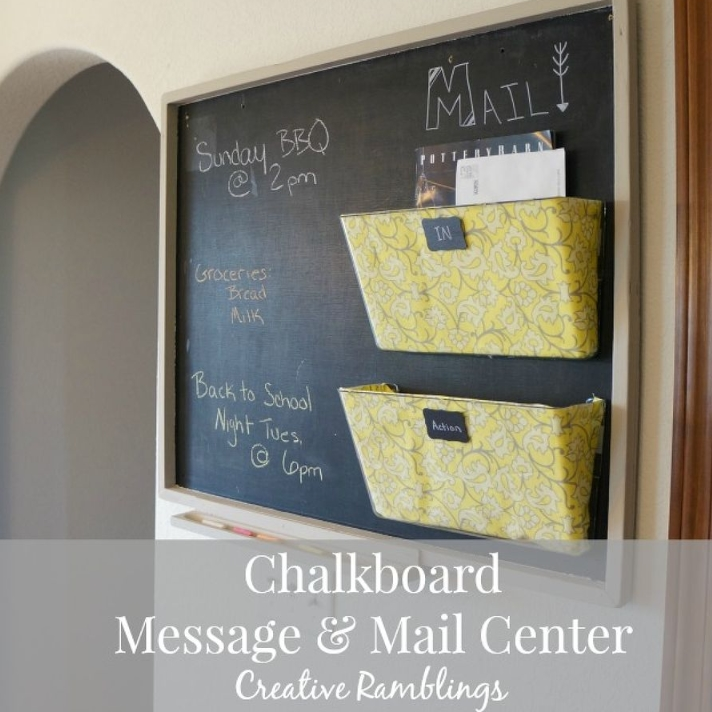 Upcycled Chalkboard Message and Mail Board | Hometalk