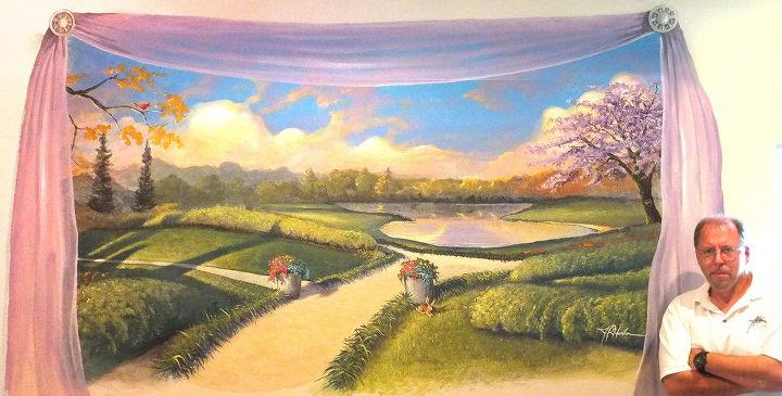 bedroom mural by hahn, painting, Lavender Afternoon Mural