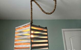 light pendant antique egg crate, diy, home decor, lighting, repurposing upcycling