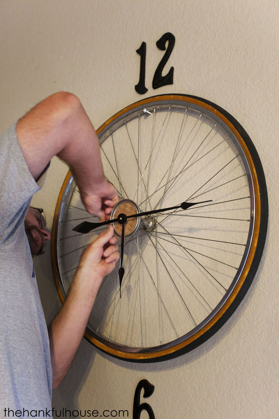 Vintage Bicycle Wheel Clock Hometalk