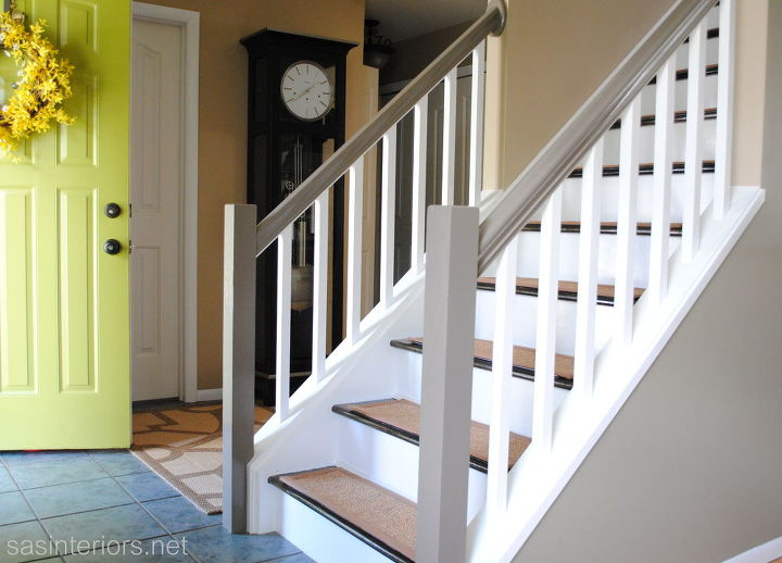 Before And After Staircase Makeover Home Decor Painting Stairs Final Stair Reveal