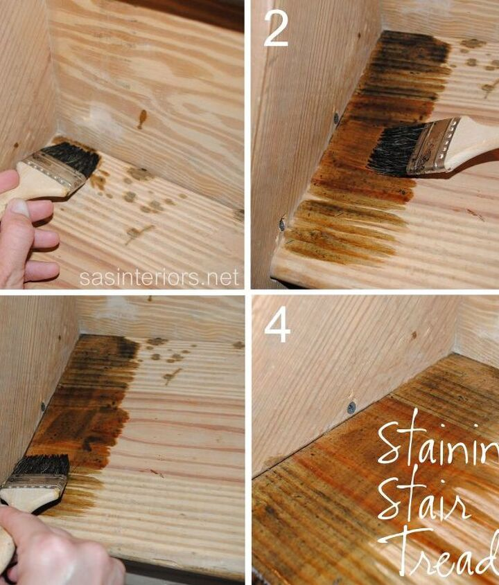 My technique to staining the stair treads