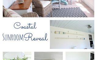 sunroom makeover coastal beachy redo, chalk paint, flooring, home decor, painted furniture, porches