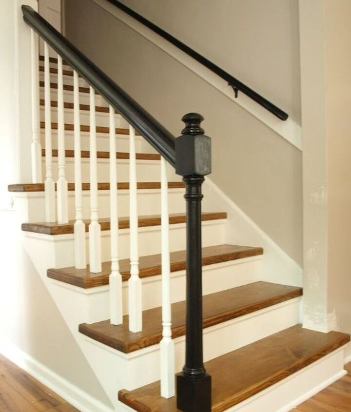 staircase carpet to wood reveal, stairs, woodworking projects