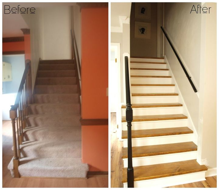 William S Woodworks Wood Stairs: Carpet To Wood Staircase Reveal