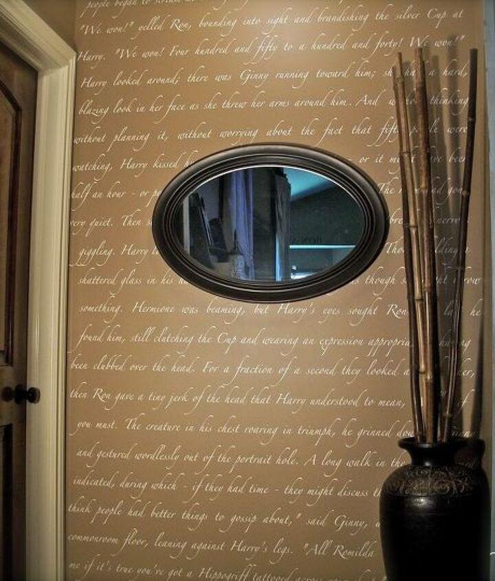 harry potter script wall, home decor, wall decor
