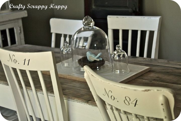 http://www.craftyscrappyhappy.net/2011/06/my-up-cycled-dining-room-table.html