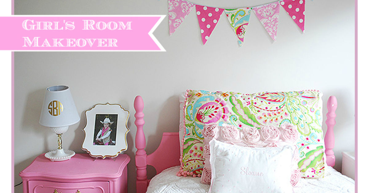 Girl S Room In Pink White Gold Decor Hometalk