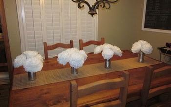 flowers i made for a friends wedding, crafts, flowers, Large flowers made with coffee filters 8 Cup size I attached them to a chopstick using hot glue Used a total of 10 coffee filters per flower Each pkg of coffee filters 200 count makes 20 large flowers Total cost 3 00