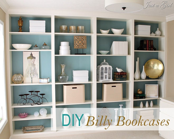 Diy Built In Bookcases Painted Furniture Shelving Ideas Custom From Ikea