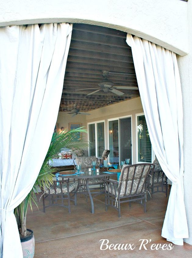 outdoor curtains inexpensive outdoor curtains curtain rods out of plumbing pieces, home decor, repurposing upcycling