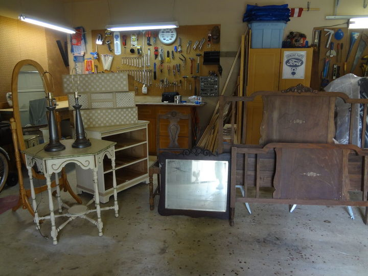 "All the furnture ""before"". Decided not to use the standing mirror."