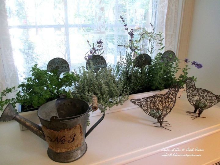 Kitchen Herb Garden made from gutters.