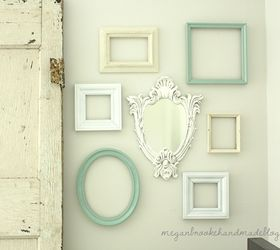 Gallery Wall Of Frames U0026 Antique Glazed Mirror
