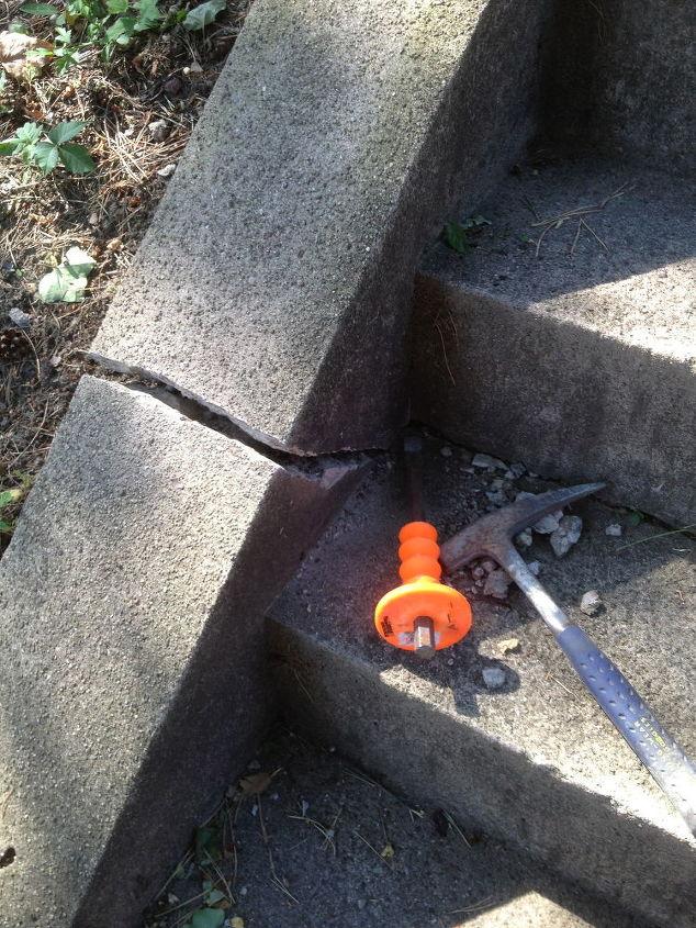 Small Crack in Concrete