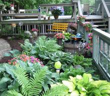 shade snow garden, gardening, outdoor living, My shade garden in June all bright and beautiful