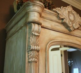 Superbe Transforming A Wood Armoire Into A Painted Treasure, Chalk Paint, Painted  Furniture