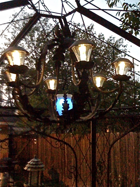 Diy Solar Light Chandelier Crafts Outdoor Living