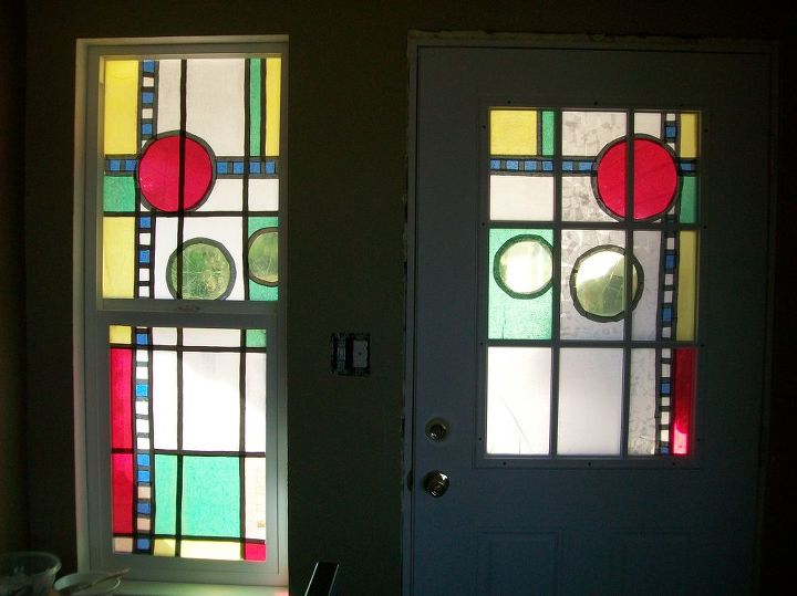 stained glass so easy, diy, flowers, how to, windows, inside looking out