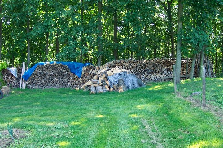 hubby loves firewood, outdoor living