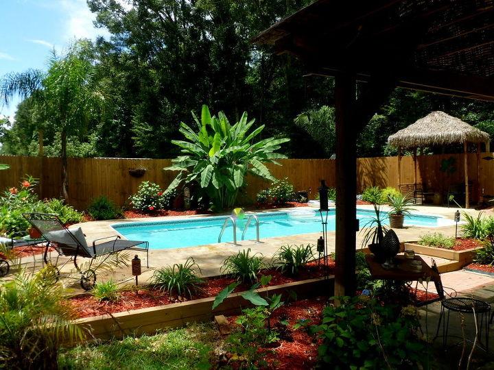 recycled inground pool paradise, diy, outdoor living, pool designs