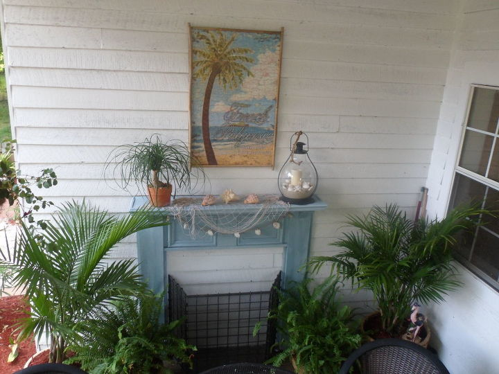 tropical back porch paradise, curb appeal, outdoor living, porches