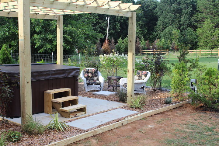 nadine s back yard oasis completed, decks, outdoor living