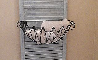 shutter caddy, bathroom ideas, chalk paint, crafts, This was my first attempt at making my own chalk paint