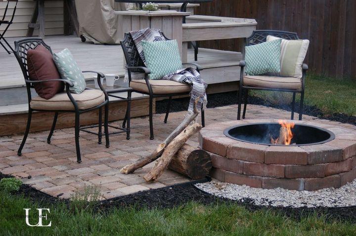 diy paver patio and fire pit, concrete masonry, decks, outdoor living, patio - DIY Paver Patio And Fire Pit Hometalk