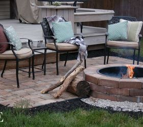 Delightful Diy Paver Patio And Fire Pit, Concrete Masonry, Decks, Outdoor Living, Patio