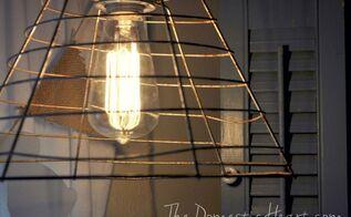 light industrial pendant tutorial, lighting, repurposing upcycling