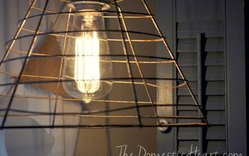 light industrial pendant tutorial, lighting, repurposing upcycling