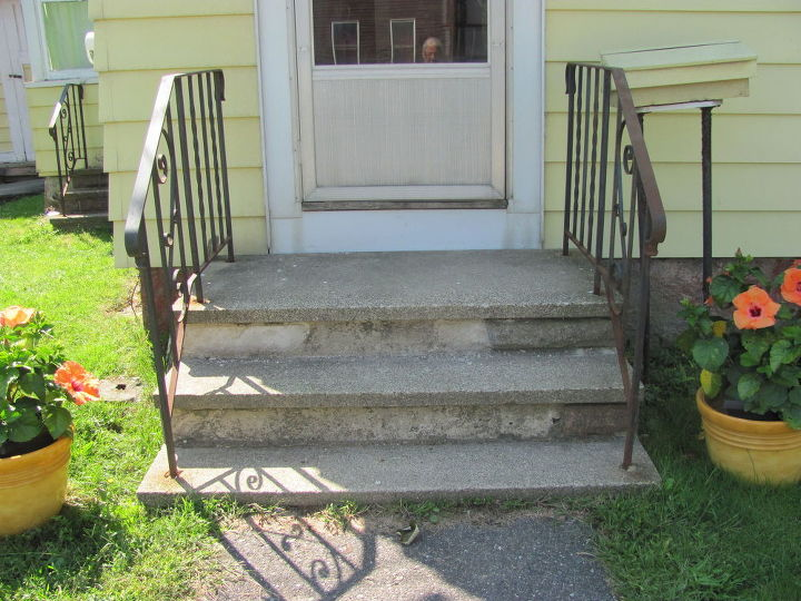 Help Updating Font Porch Concrete Steps