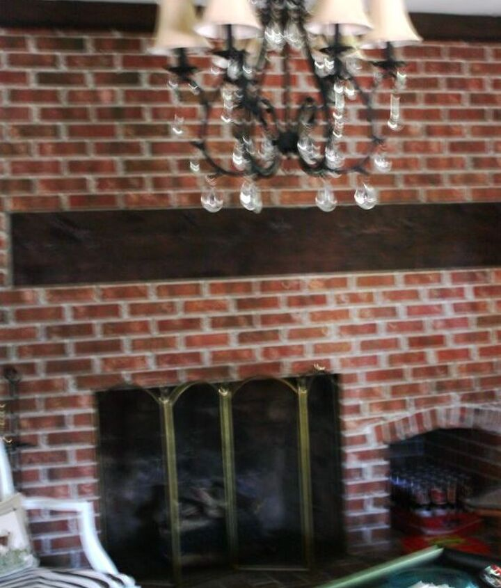 q need design help with brick wall fireplace, concrete masonry, fireplaces mantels, home decor, painting, wall decor