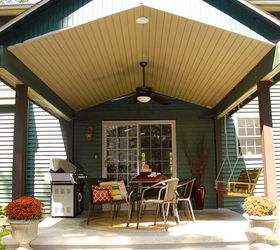 Back Patio Decor Ideas Makeover, Outdoor Living, Painting, Porches