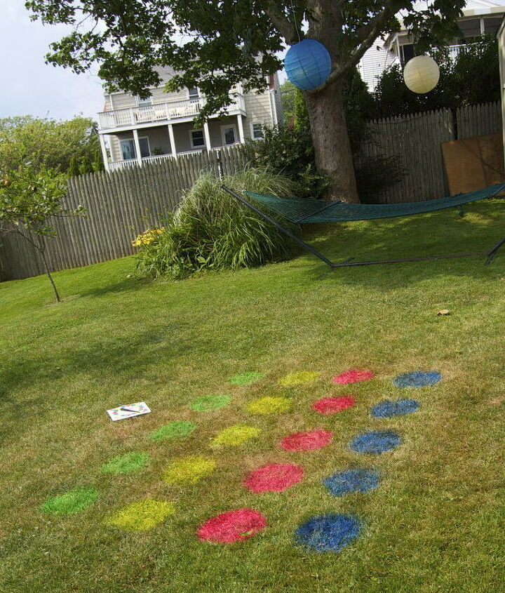 Some fluorescent spray paint and you're in business! This lasts until the grass is cut!