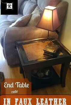 topless end tables renewed with faux leather tops, living room ideas, painted furniture, repurposing upcycling