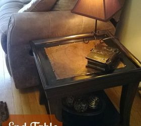 Topless End Tables Renewed With Faux Leather Tops, Living Room Ideas,  Painted Furniture, ...