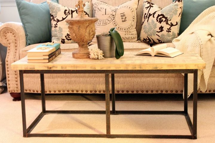 Our DIY version of a Restoration Hardware coffee table.