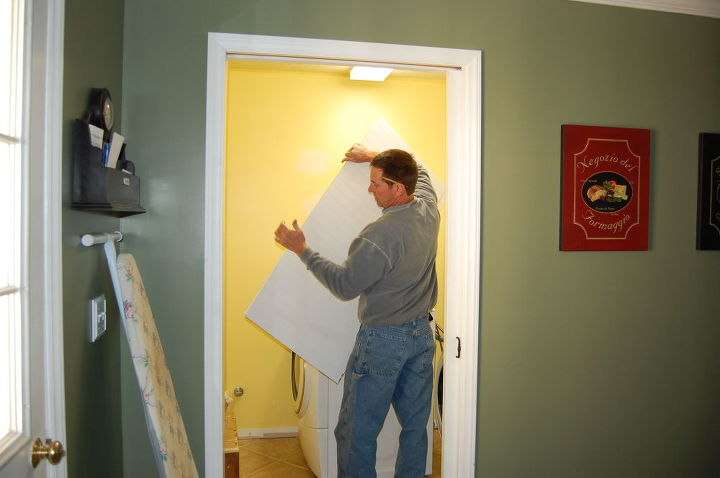 My husband installing a pocket door.