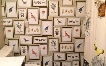 Birds & Butterflies Guest Bathroom Makeover
