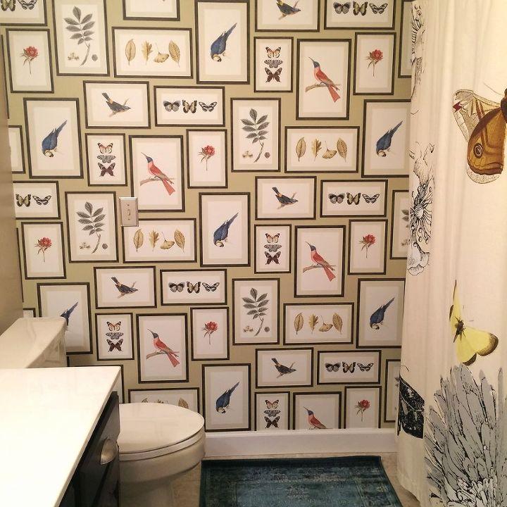 Birds Butterflies Guest Bathroom Makeover Hometalk - Guest-bathroom-ideas-2