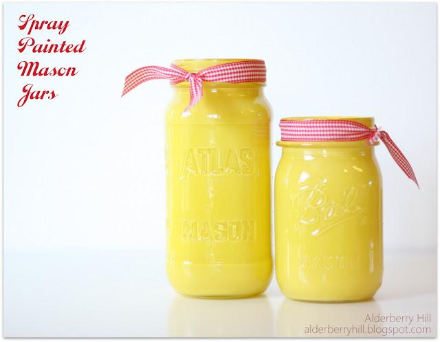 repurposing, crafts, mason jars, painting, Spray Painted Mason Jars
