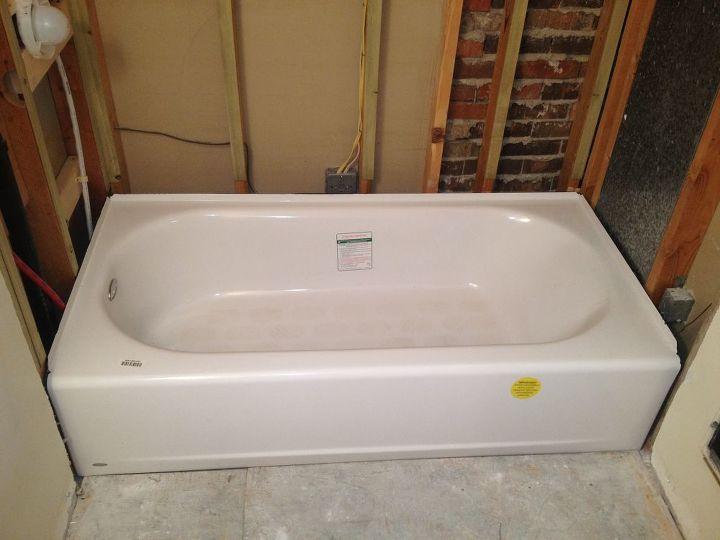 we had a smooth bathtub installation, bathroom ideas, home improvement, New tub