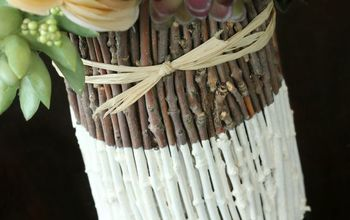 DIY Painted Twig Vase